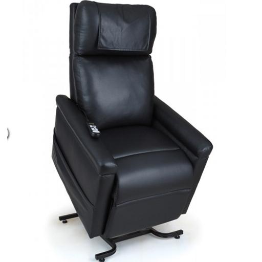 fauteuil lectrique 2 moteurs cuir noir adapt aux grandes tailles vilacosy. Black Bedroom Furniture Sets. Home Design Ideas