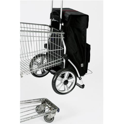 hariot de courses 44l grandes roues bleu vilacosy. Black Bedroom Furniture Sets. Home Design Ideas