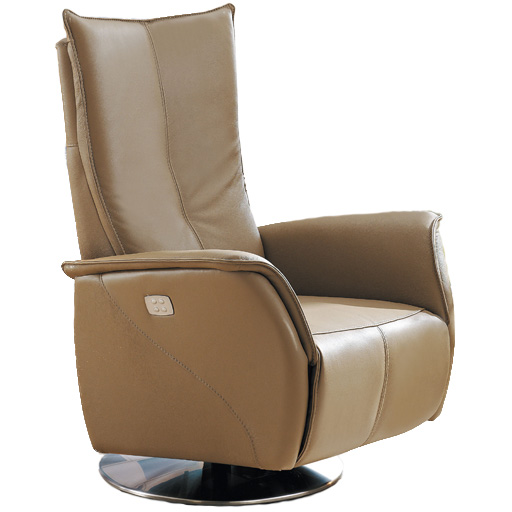 Fauteuil de relaxation releveur en cuir 2 moteurs vilacosy for Fauteuil de salon electrique