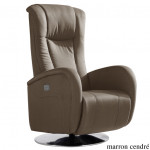 Fauteuil de relaxation Volupe 2 moteurs microfibre imitation cuir rotation 360°