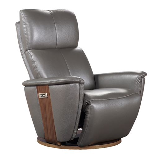 Fauteuil lit relax cuir motoris avec socle rotatif vilacosy - Fauteuil relaxant cuir ...