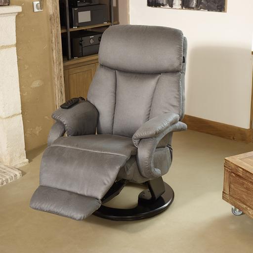 fauteuil relax contemporain en microfibre pivote et s 39 allonge vilacosy. Black Bedroom Furniture Sets. Home Design Ideas