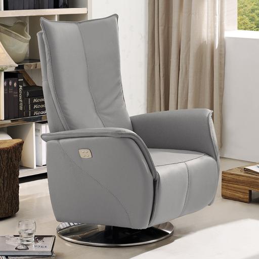 fauteuil de relaxation releveur en cuir 2 moteurs vilacosy. Black Bedroom Furniture Sets. Home Design Ideas