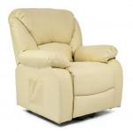 Fauteuil Relax Releveur Massant chauffant simili cuir 1 moteur inclinaison+ 3 couleurs