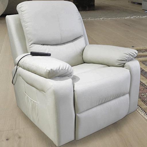 fauteuil relax releveur massant chauffant simili cuir 1 moteur inclinaison 3 couleurs vilacosy. Black Bedroom Furniture Sets. Home Design Ideas