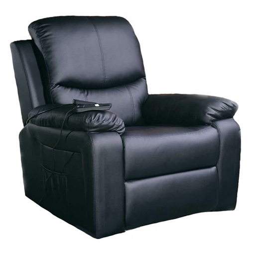 fauteuil relax releveur massant chauffant simili cuir 1 moteur inclinaison 3 couleurs vilacosy. Black Bedroom Furniture Sets. Home Design Ideas
