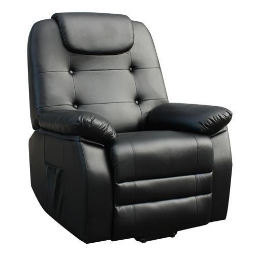 Fauteuil Relax Releveur Massant chauffant Shiatsu simili cuir 1 moteur 2 couleurs
