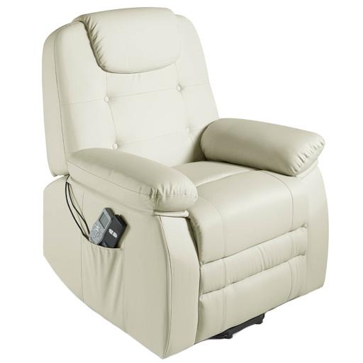 fauteuil relax releveur massant chauffant shiatsu simili cuir 1 moteur 2 couleurs vilacosy. Black Bedroom Furniture Sets. Home Design Ideas