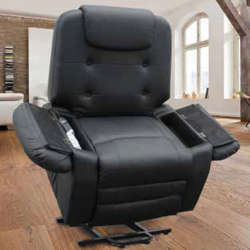 fauteuil relax releveur massant chauffant shiatsu simili cuir 1 moteur 2 couleurs vilacosy. Black Bedroom Furniture Sets. Home Design Ideas
