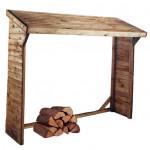 Abri-bûches de jardin en bois