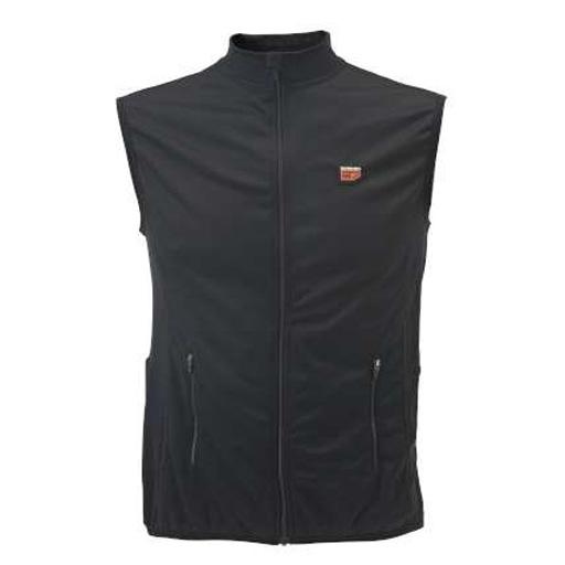 Sous-vêtement chauffant gilet sans manche ultra fin noir