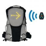 Sac à dos affichage LED pour la sécurité en vélo