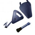 Canne siège bleue pliante ajustable Flipstick