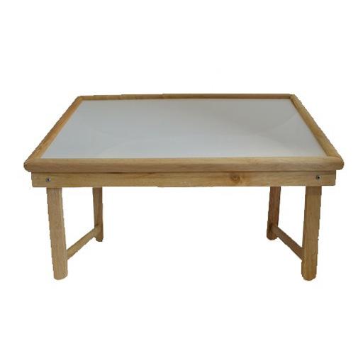 plateau sur pieds en bois et stratifi blanc inclinable vilacosy. Black Bedroom Furniture Sets. Home Design Ideas