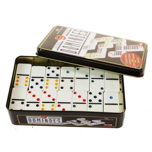 Dominos 55 pièces en relief et en couleurs