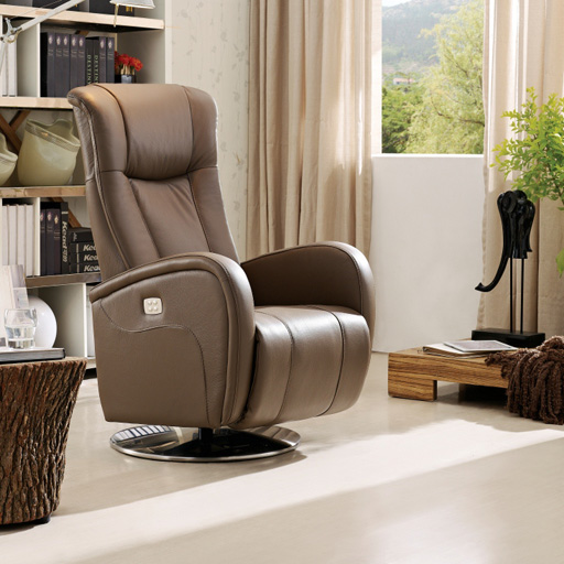 Fauteuil Relaxation 2 moteurs 100% Cuir Italien VOLDEN   6 couleurs au choix