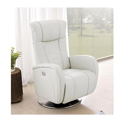 Fauteuil de relaxation 2 moteurs en cuir volden vilacosy - Fauteuil relax blanc ...