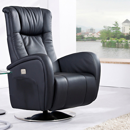 fauteuil de relaxation 2 moteurs en cuir volden vilacosy. Black Bedroom Furniture Sets. Home Design Ideas