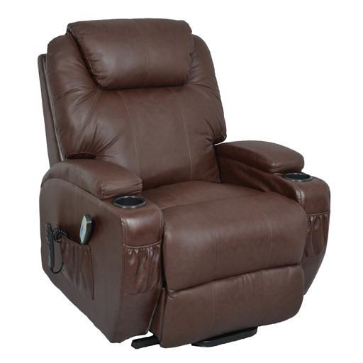fauteuil de relaxation massant et chauffant brun Vilacosy