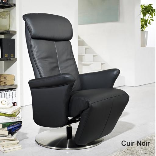 fauteuil de relaxation manuel en cuir techniform vilacosy. Black Bedroom Furniture Sets. Home Design Ideas