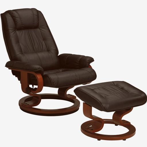 Fauteuil relaxation manuel cuir rotation 360 densite 26kg m3 Vilacosy