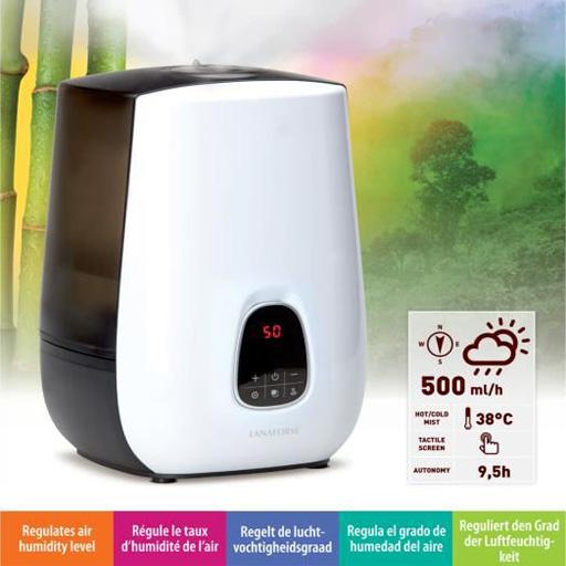 humidificateur d 39 air vapeur d 39 eau lanaform vilacosy. Black Bedroom Furniture Sets. Home Design Ideas