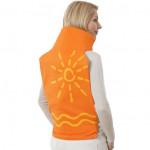 Coussin chauffant électrique orange nuque et dos